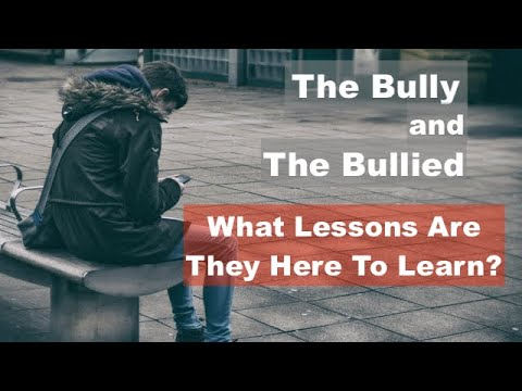 THE BULLY AND THE BULLIED. WHAT LESSONS ARE THEY HERE TO LEARN?